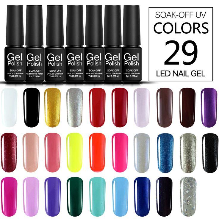 Verntion 2017 UV Gel Polish Remover Professional Nail Art 29 Color Nail Art Printer Nail Polish Vernis Semi Permanent #Affiliate