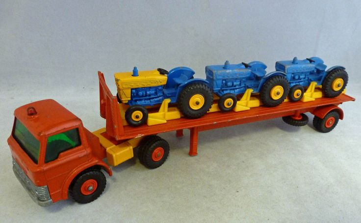 King Of Cars >> Lesney Matchbox King Size K-20 Ford Tractor Transporter | Ford tractors, King size and Tractor