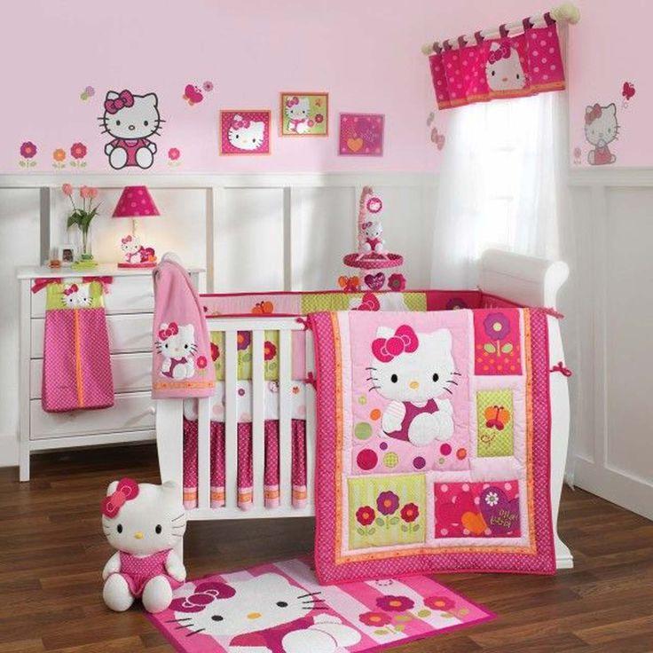 Hello Kitty Room Design For Baby Girl ~ http://www.lookmyhomes.com/hello-kitty-room-designs-ideas-for-girl/