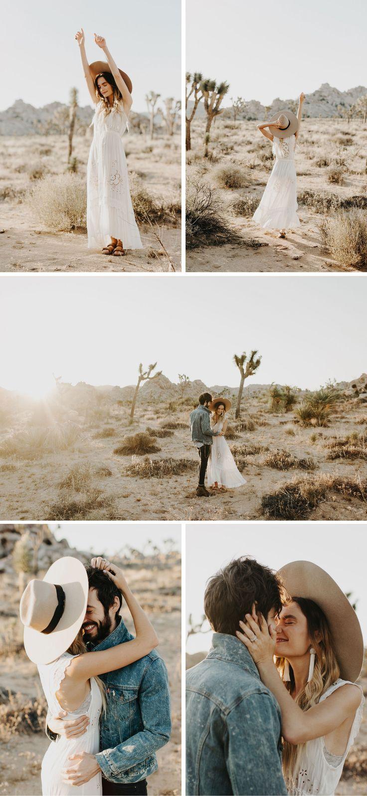 Joshua Tree Engagement Wedding