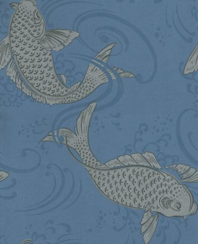 1000 images about fabric and wallpaper on pinterest for Ornamental carp fish