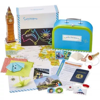 Familydays likes this great idea and products that you can find on the web www.littlepassports.com Monthly packages arrive, filled with letters, souvenirs, activities & more.