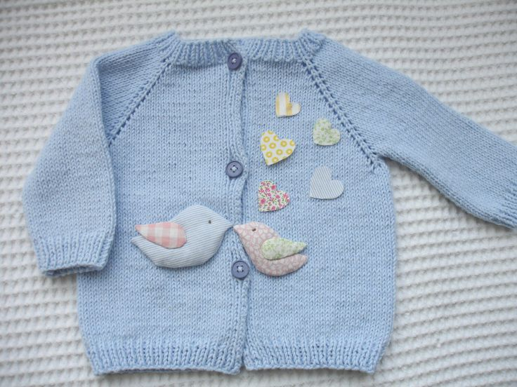 A personal favourite from my Etsy shop https://www.etsy.com/listing/184158203/blue-baby-cardigan