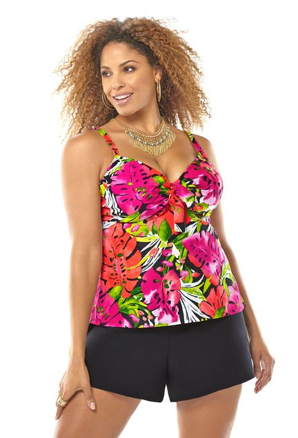 Tropical Underwire Swim Top