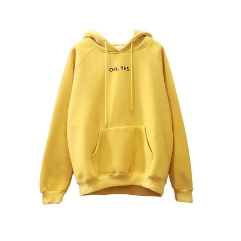 5a63cdc37fb 2018 New Fashion Corduroy Long Sleeves Letter Harajuku Print Girl Yellow  Pullovers Tops O-neck Woman Hoodies Sweatshirts Coat