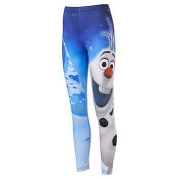 Disney Frozen Olaf Snow Day Leggings Hahaha I wouldn't wear these but they're awesome!
