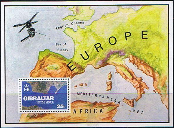 Gibraltar 1978 Gibraltar from Space Miniature Sheet Fine Mint SG 399 Scott 364 Other Gibraltar Stamps HERE