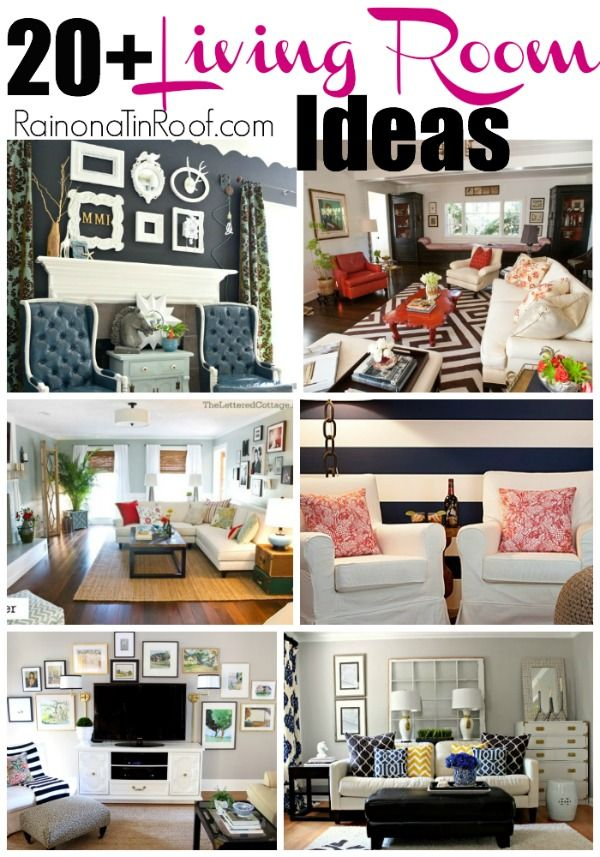 I always struggle with decorating my living room. What fabrics to use? What patterns to mix? Here are 20+ living room ideas to help me and you.