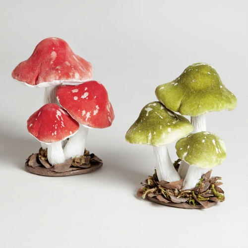 One of my favorite discoveries at WorldMarket.com: Mushroom Trios, Set of 2