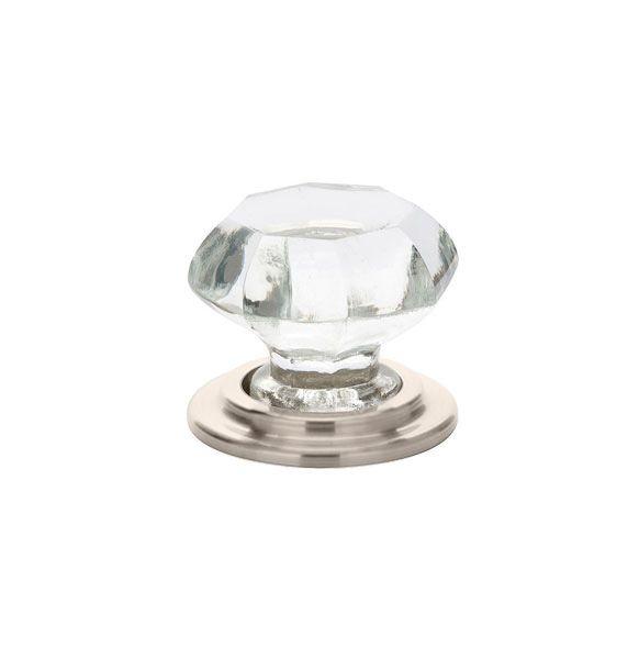emtek old town inch diameter geometric cabinet knob from the crystal satin nickel cabinet hardware knobs geometric