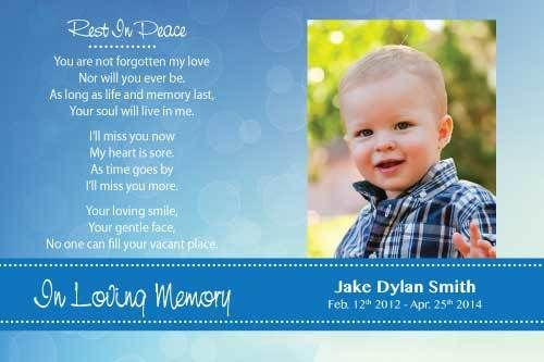 Memorial Digital Printable Card Templates and Funeral Card – Funeral Invitation Card