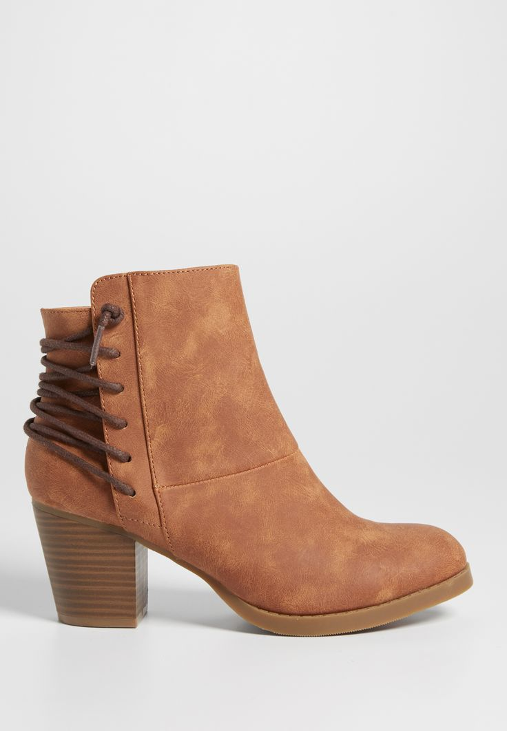 Gloria Bootie With Lace Up Back In Brown (original Price, $49.00) Available  At. Shoe ClosetLace ...