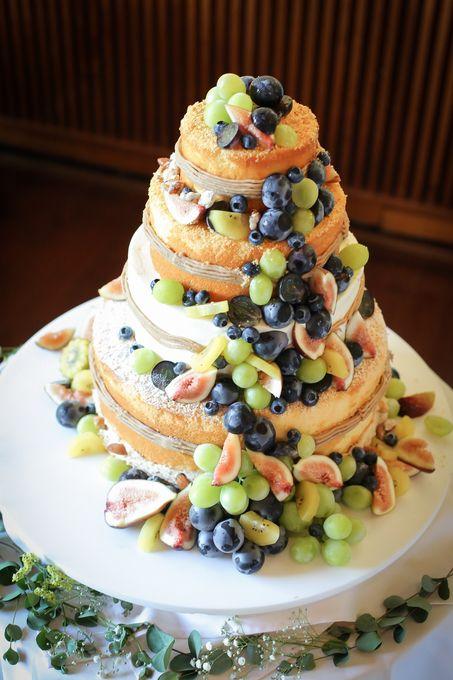ウェディングケーキ♪ ~ナチュラル&おしゃれなネイキッドケーキ~