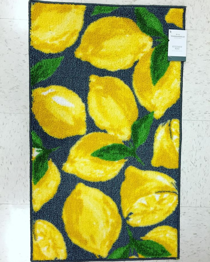 #brighten Up Your Kitchen With This Threshold #yellow #lemon #rug. @