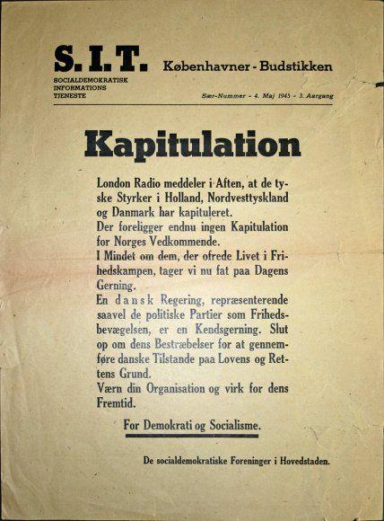 SIT Kapitulation 4. Maj 1945