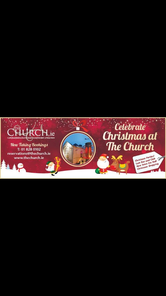 Christmas at The Church your one stop Party Venue...