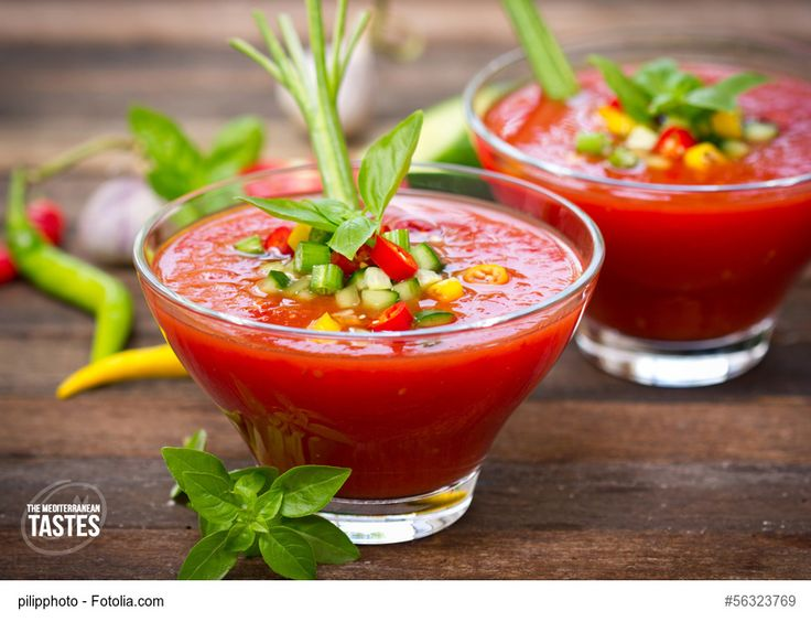 Gazpacho - A cool recipe - July, almost forty degrees ... it's devilishly hot! We have a growing desire to eat something fresh and tasty, perhaps matched by a glass of good wine, fresh, and if possible to be eaten by the sea. So here we are today to suggest to you a truly summer dish, pleasant even when it is really hot ..... just like now! Read more on: www.themediterraneantastes.com