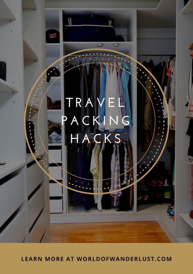 """Travel Packing Hacks - The Ultimate """"How to Pack your Bags Better"""" Post - WORLD OF WANDERLUST"""