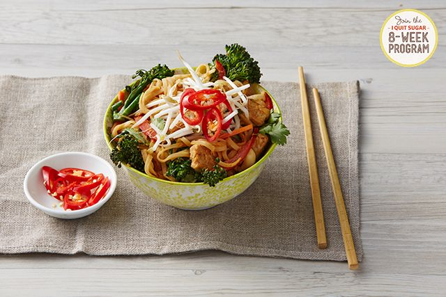 #Vegetarian Pad Thai. A meal from the next round of our 8-Week Program. Sign up here: http://iquitsugar.com/8-week-program/