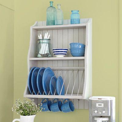 32 Easy Kitchen Upgrades & 19 best Kitchen Plate Racks images on Pinterest   Dish racks ...