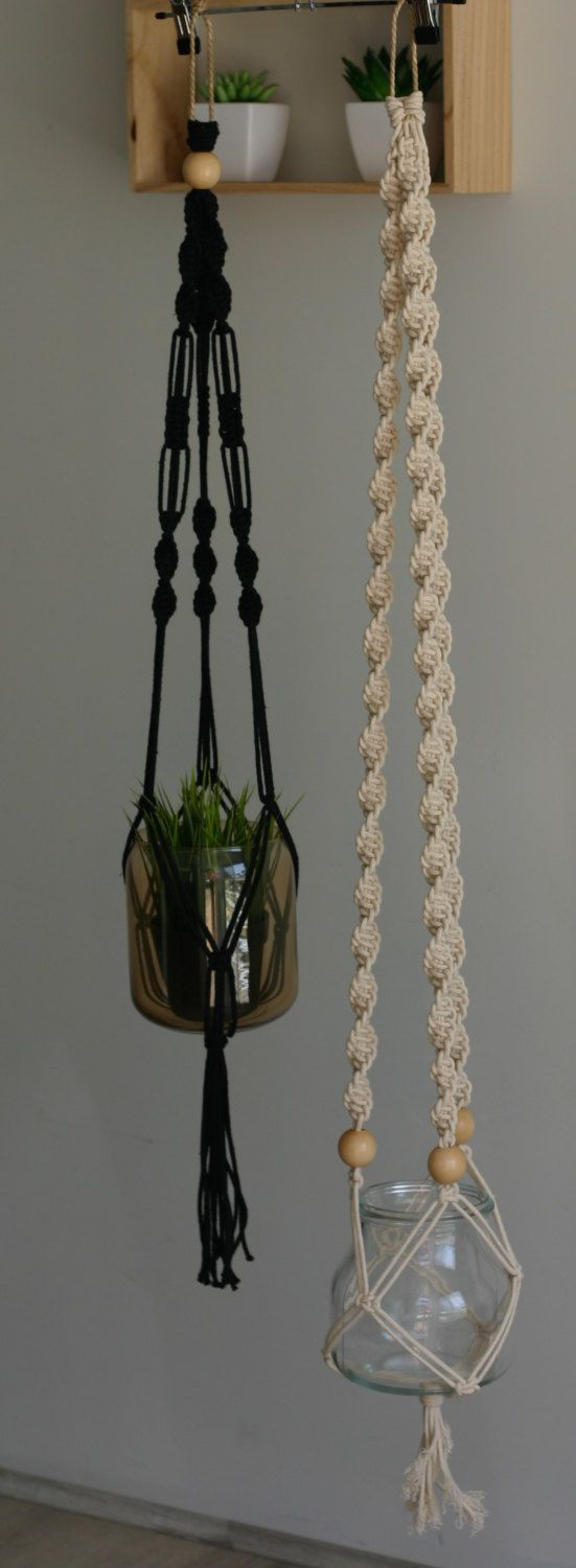 Macrame plant, candle or incense hanger by TheWelshmansWife on Etsy