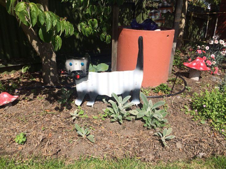Kenny the tin cat! Peter made this @juliesoal