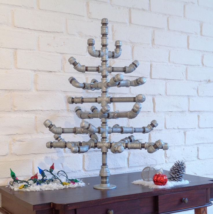 Industrial Christmas Tree with Crate by TheUrbanArboretum on Etsy https://www.etsy.com/listing/257130026/industrial-christmas-tree-with-crate