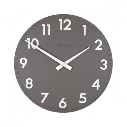 Thomas Kent Camden Clock Slate - 12 inch dark grey wall clock