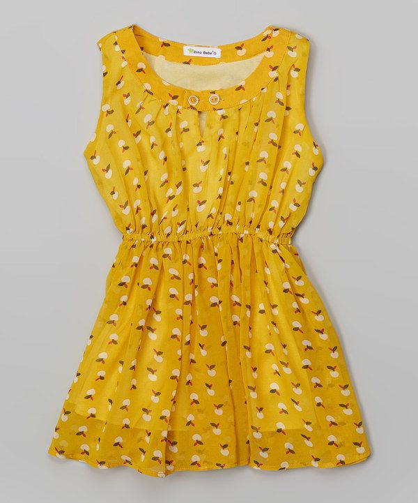 Look at this Yellow Gathered Dress - Toddler & Girls on #zulily today!