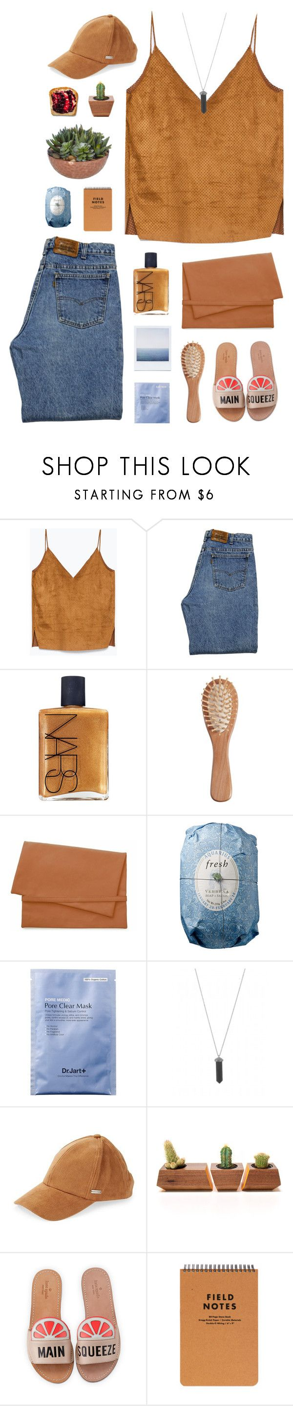 """It's my 19th birthday!"" by nauditaolivia ❤ liked on Polyvore featuring Levi's, NARS Cosmetics, The Unbranded Brand, Cheap Monday, Fresh, Karen Kane, Steve Madden, Dot & Bo and Kate Spade"