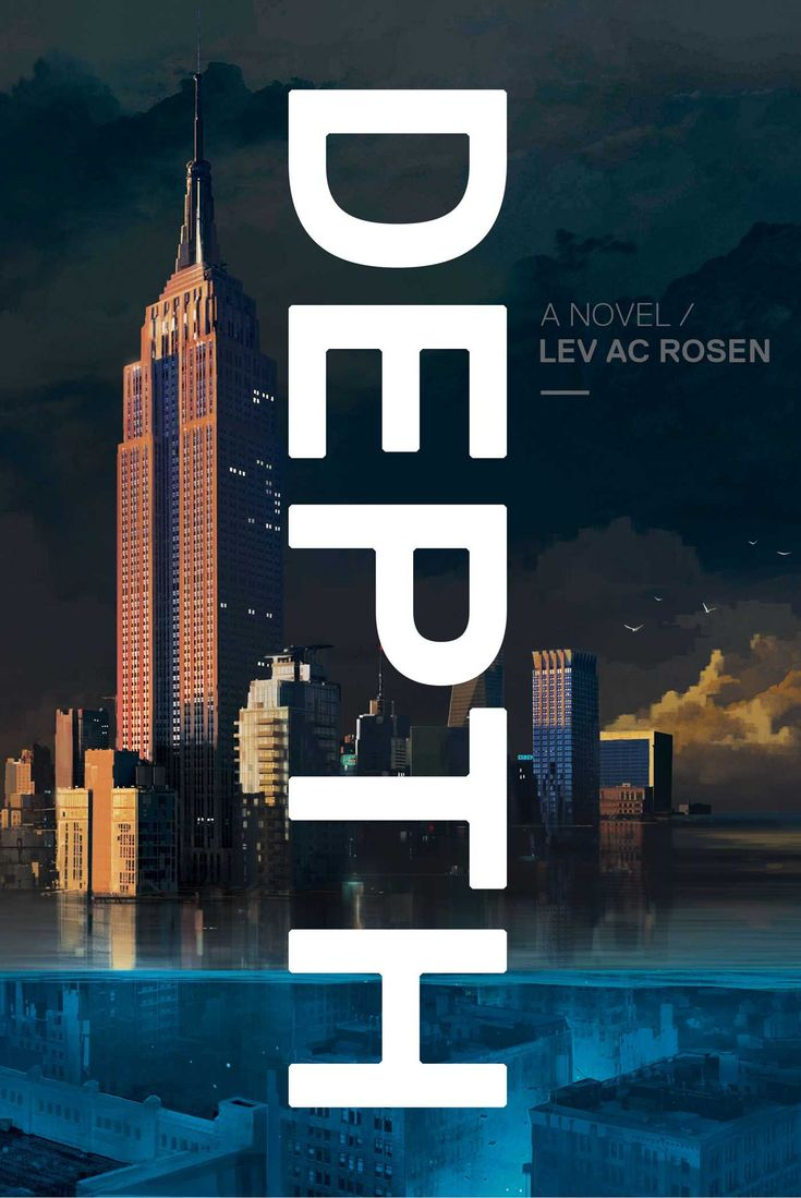 """Depth"", by A.C. Rosen - In a post-apocalyptic flooded New York City, a private investigator's routine surveillance case leads to a treasure everyone wants to find—and someone is willing to kill for."
