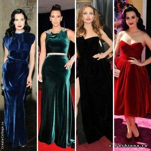 velvet dress blue green red black samtkleid kleider samt