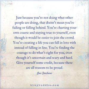 You're Not Failing or Falling Behind