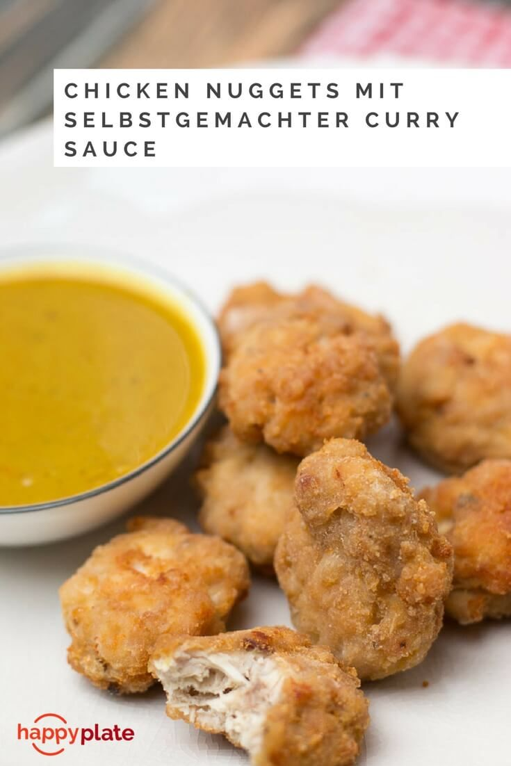 Chicken Nuggets mit Curry Sauce