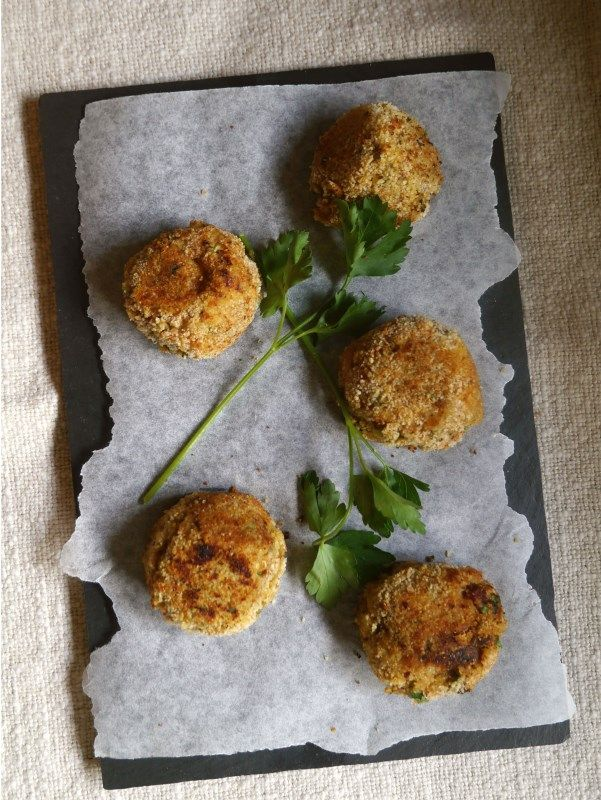 Red Lentil Aubergine and Goat Cheese Bites