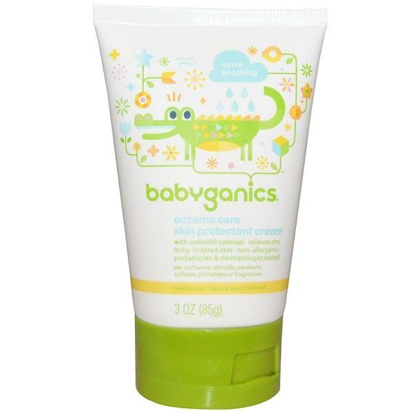 Babyganics إكزيما كير كريم حماية البشرة 3 أونصات 85 جم Discontinued Item Sensitive Skin Cream Skin Protection Babyganics