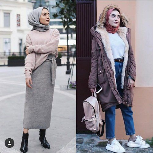 Furry sleeves sweaters with hijab – Just Trendy Girls