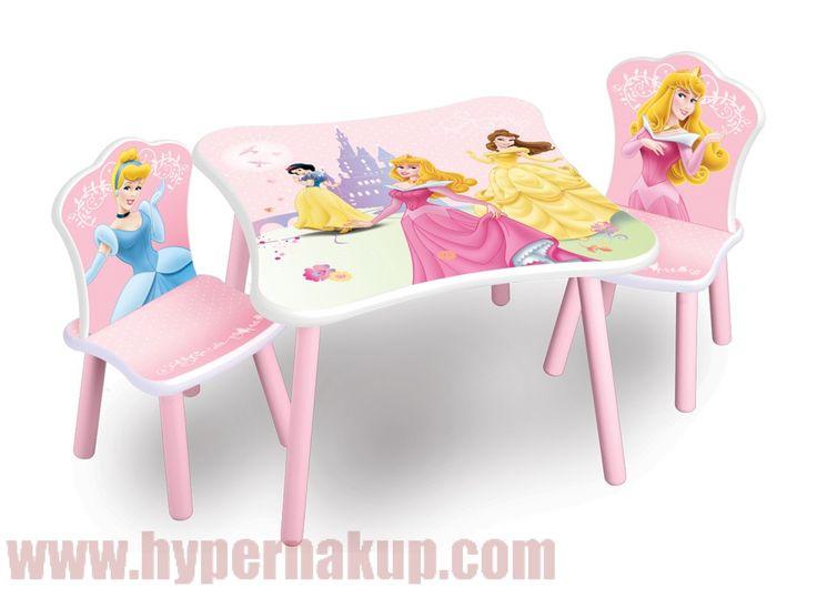 Detský stôl so stoličkami Disney Princess Princezné