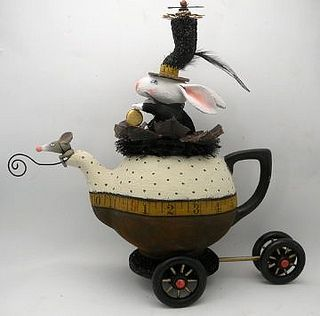 to the steam punk tea  by juliehaymakerthompson, via Flickr