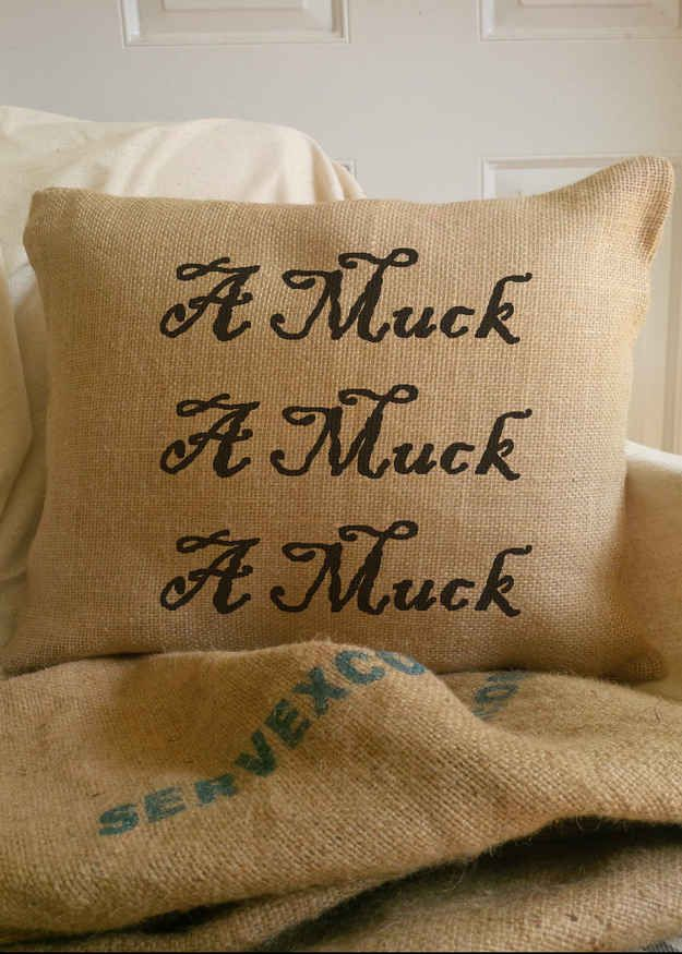 """""""Amuck, Amuck, Amuck"""" Throw Pillow, $35.00 