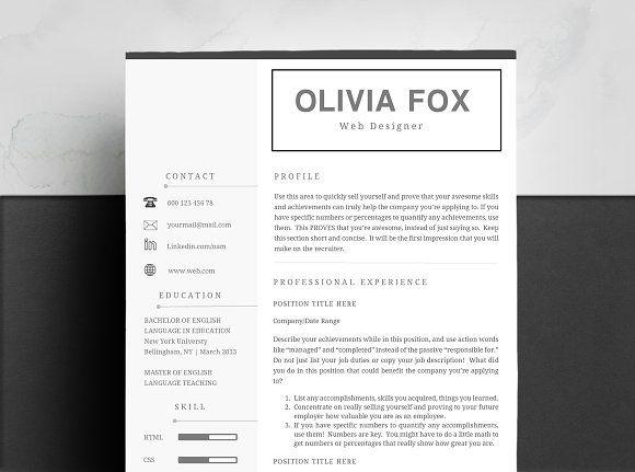 Resume Template Fox Resumes Best Resume Template Resume Template Word Resume Words Skills