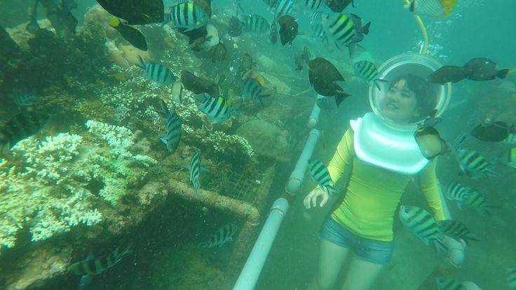 Experienced seawalker in Bali, Indonesia
