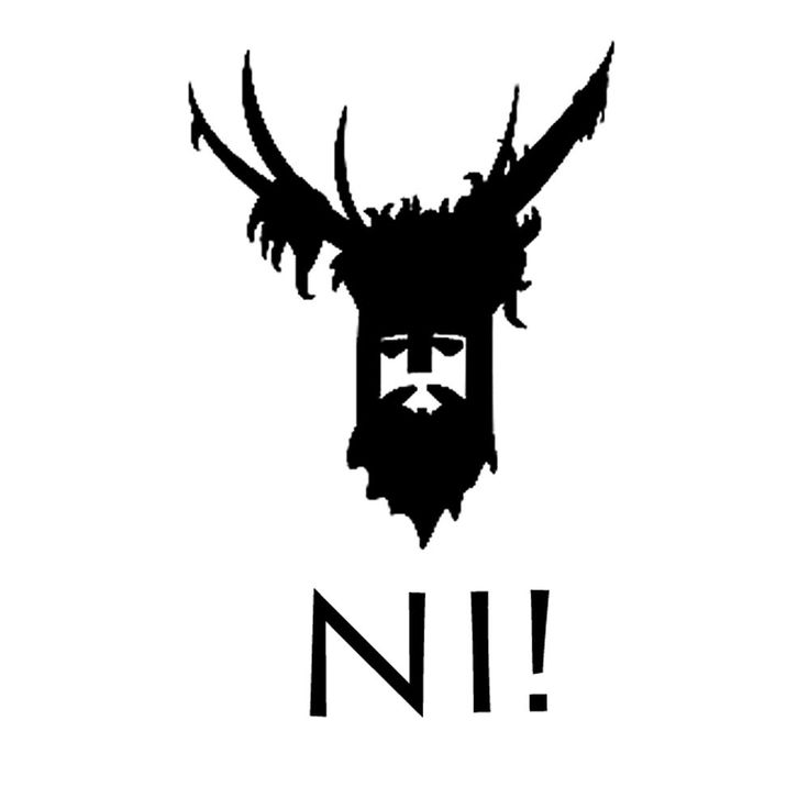 Knights Who Say Ni T-Shirt inspired by Monty Python and the Holy Grail NI! NI!