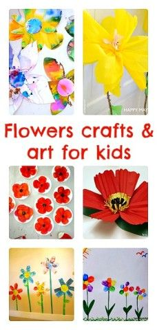 Flower crafts and flower themed art projects for kids from Blog Me Mom