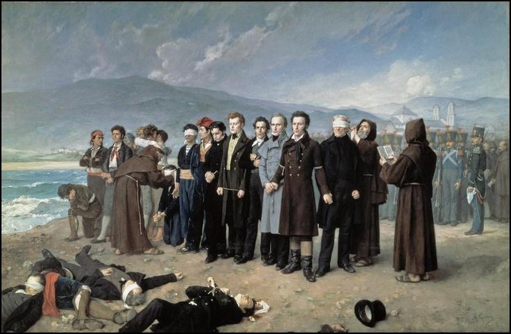 Fusilamiento de Torrijos y sus compañeros, de Antonio Gisbert.