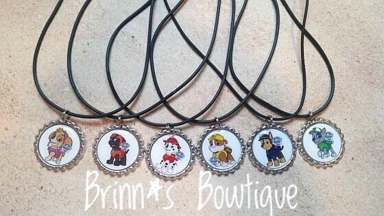 A personal favorite from my Etsy shop https://www.etsy.com/listing/275900594/paw-patrol-inspired-bottlecap-necklaces
