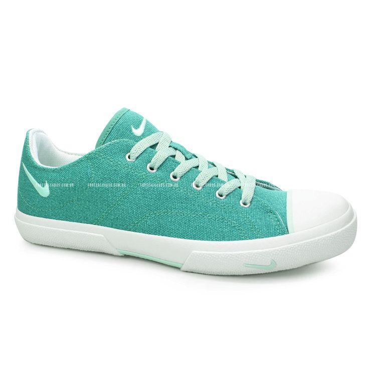 Tenis Feminino Nike Biscuit Canvas Verde Turquesa