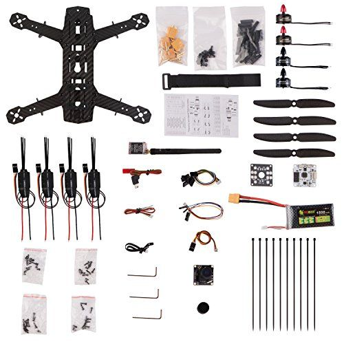 Full Carbon Fiber frame kit, which is ultralight and great intensity. Bundled with 5.8G 600mw image transmission and 700 line HD NTSC camera. Bundled with EMAX 1806 motor and electronic speed controller (ESC). . . . read more . . . pls repin