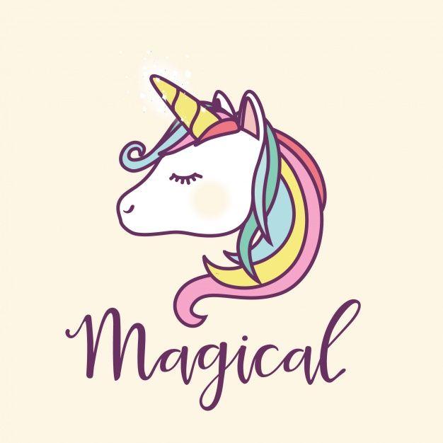 Unicorn Hintergrund-Design Kostenlose Vektoren