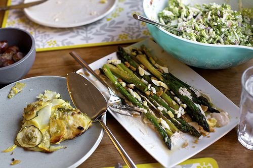 Asparagus with Smoky Lemon Yogurt, Chopped Eggs, and Toasted Almonds ...